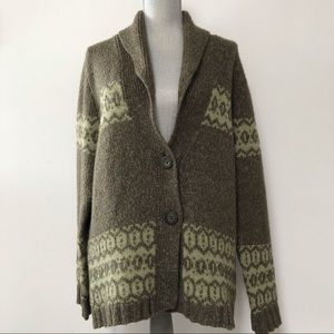 Woolrich wool blend cardigan sweater